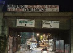 Il manifesto in via Vicentini