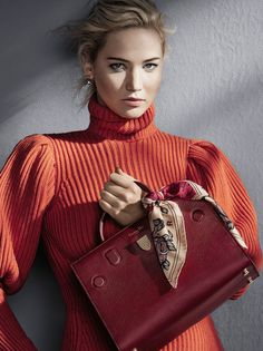 Jennifer Lawrence by Patrick Demarchelier for Dior Handbags Fall/Winter 2016/2017 Campaign