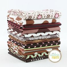 Brown - Fat Quarter Bundle (BR.12FQ) by Mixed Designers for Southern Fabric