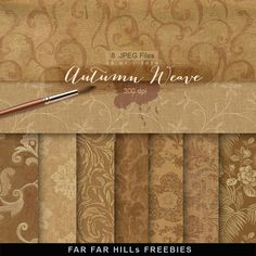 Far Far Hill - Free database of digital illustrations and papers: New Freebies Kit of Backgrounds - Autumn Weave