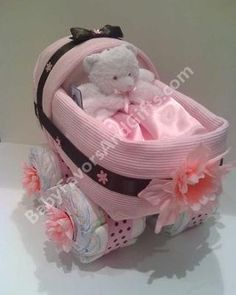 how cute for a brown and pink baby shower idea
