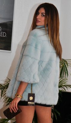 Braschi Pastel Royal Saga Mink FUR Long Jacket Like Coat Chinchilla Sable Lynx | eBay