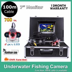 313.31$  Watch here - http://ai8h7.worlditems.win/all/product.php?id=32272234452 - 7Inch Monitor fishing tools underwater camera with DVR 600TVL IP68 Waterproof DC12V 2pcs LED lights with 100M cable