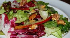 Another Marvelous Meal: Mixed Greens and Apple Salad with Apple Cider-Walnut Oil Vinaigrette Apple Salad, Popular Recipes, Goat Cheese, Vinaigrette, Superfood, Blueberry, Cabbage, Meals, Chicken