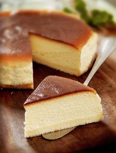"Base 1 slice 8"" sponge cake Cream Cheese Mixture A: 400g fresh milk 250g cream cheese 60g plain flour, sieved B: 5 egg yolks 20g lemon juice C: 5 egg whites 100g caster sugar Method 1. Preheated ov..."