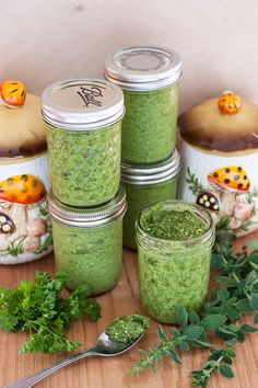 RECIPE: Oregano Pesto + Giveaway Winners! | http://adventures-in-making.com/recipe-oregano-pesto-giveaway-winners/ #recipe #pesto