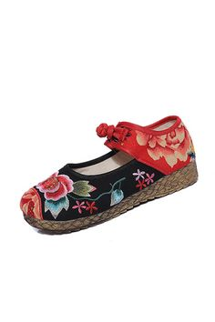 5CM Heel Women's Shoes National Retro Old Peking Mary Jane Canvas Increased Internal Embroidery Soft - Intl | Price: ฿786.00 | Brand: Unbranded/Generic | From: Top Seller Shoes - รวมรองเท้าแฟชั่น รองเท้าผู้ชาย รองเท้าผู้หญิง ราคาพิเศษ | See info: http://www.topsellershoes.com/product/54967/5cm-heel-womens-shoes-national-retro-old-peking-mary-jane-canvas-increased-internal-embroidery-soft-intl