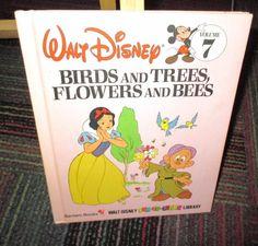 DISNEY BIRDS & TREES, FLOWERS & BEES VOLUME 7 HARDCOVER BOOK, GREAT READ, GUC