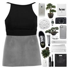 """""""THEY CALL ME AFTER DARK, I DON'T WANT NO PART"""" by feels-like-snow-in-september ❤ liked on Polyvore featuring Monki, Boohoo, Vans, 3.1 Phillip Lim, Brinkhaus, Fujifilm, Nearly Natural, Casio, NARS Cosmetics and Frette"""