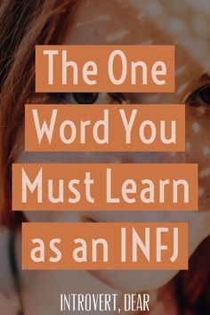 In order to take care of ourselves — so that we can continue helping others — we INFJs need to add a new word to our vocabulary. Introvert Love, Infj Love, Extroverted Introvert, Infj Infp, Meyers Briggs Personality Test, Rarest Personality Type, Infj Personality, Personality Characteristics, Tired Quotes