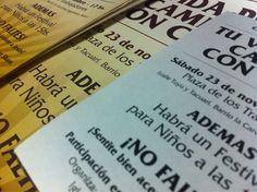 Parte de los últimos trabajos: diseño e impresión de folletos y afichetas