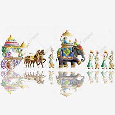 Indian Flag, Indian Folk Art, Indian Independence Day, Wedding Logo Design, Bridal Henna Designs, Horse Wedding, Indian Wedding Cards, Wedding Illustration, No Photoshop