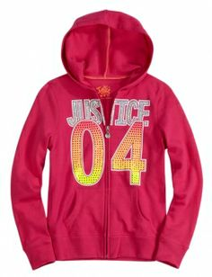 Justice Clothes for Girls Outlet | ... up Hoodie With Rhinestones | Girls Sweatshirts Clothes | Shop Justice
