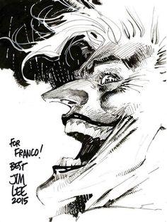Batman, The Joker, and Wonder Woman by Jim Lee * Batman Vs, Batman Comic Art, Joker Art, Marvel Art, Comic Book Artists, Comic Artist, Comic Books Art, Comic Book Covers, Joker Drawings