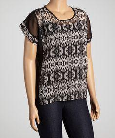 Look at this #zulilyfind! Black & White Arabesque Dolman Top - Women #zulilyfinds