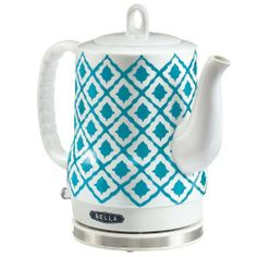 Electric Ceramic Tea Kettle, $49.99 --- Add some style to your kitchen with this seriously chic ceramic kettle. Besides its pretty exterior, the kettle has a cordless base and rotates 360 degrees for optimal coffee access and safety. This kettle is super easy to store and reduces clutter due to the concealed heating device and cordless base.