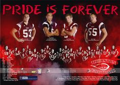 Football team posters. - maybe split the seniors from the whole team and pose individually to place larger above rest of team to feature