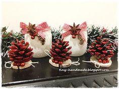 Świeczniki ze słoiczków Red, Handmade, Hand Made, Handarbeit