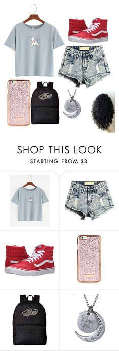 """School outfit "" by isabellmurillo ❤ liked on Polyvore featuring Vans"