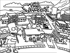The Simpsons Coloring Page WeColoringPage 213