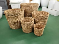 Family of Wholesale Water Hyacinth and Rattan Baskets. Perfect for Fall and The Holidays. We have a large supply for Interior Designers, Landscape Architects, Event Planners, and other industry professionals. Cylinders available in and Commercial Interior Design, Commercial Interiors, Rattan Basket, Baskets, Holidays In New York, Fiberglass Planters, Long Island Ny, Water Hyacinth, Flower Market