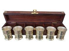 Brass Anchor Shot Glasses - Jurji Row - 1