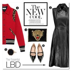 """Essential LBD"" by stylelibrarian ❤ liked on Polyvore featuring Acne Studios, Yves Saint Laurent, Fendi and Ginette NY"