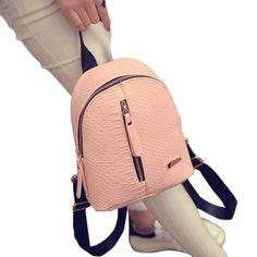 Want to buy? Just click the link above!❤ 2017 Summer New Backpack Women Travel Bag Mini Pu Backpack Female School Student Teenage Girl Mochila Escolar Women Back Leather Laptop Backpack, Rucksack Bag, Backpack Bags, Leather Backpacks, Mini Backpack, Travel Backpack, Tote Bag, Shoulder Backpack, Leather Shoulder Bag