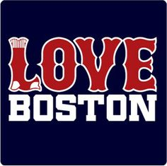 Love the Sox? Love Boston? We love you! Now get this t-shirt for someone you love! (note: it's OK to love yourself)