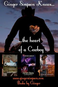 Some of my western romances.  See them all at http://www.amazon.com/author/gingersimpson