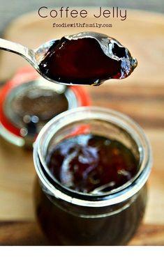 Black Coffee Jelly Recipe - DIY Gift World - Food - coffee Recipes Jam Recipes, Canning Recipes, Coffee Recipes, Dessert Recipes, Canning Labels, Curry Recipes, Lunch Recipes, Drink Recipes, Recipies