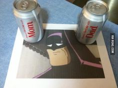 This is why batman drinks Pepsi