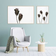 My new obsession: dried botanicals 🖤 find this Dried Proteas print set in the online store. South African Decor, South African Design, Art Prints For Home, Wall Art Sets, Contemporary Decor, Botanical Prints, Wall Art Prints, Gallery Wall, Plant