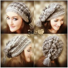 """There's a new hat in town - The Stella Slouch Hat! I truly love a slouchy hat, and really adore how this one came together. Limited time offer, """"Special Pattern Debut"""" price here in my Ravelry Shop..."""