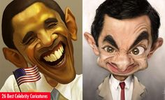 26 Best and Beautiful Celebrity Caricatures for your inspiration. Follow us www.pinterest.com/webneel