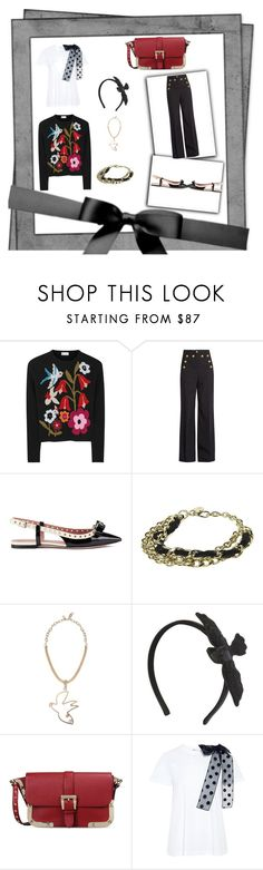 """Present Bird"" by carolmaeda ❤ liked on Polyvore featuring RED Valentino"