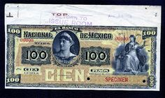 Mexico paper money Mexican currency 100 peso banknote