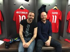 Muse Chris Wolstenholme and Will Champion from Coldplay