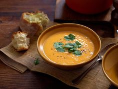 Kumara and coriander soup, potato recipe, brought to you by Good Food