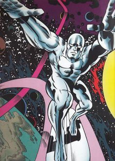 The Silver Surfer, by Jack Kirby.