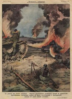Итальянские пропагандистские постеры времен Второй Мировой Войны: Восточный фронт