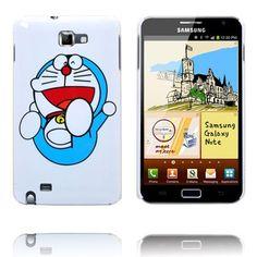 Happy Cartoon Ver. 2 (Blå Katt) Samsung Galaxy Note-Skal