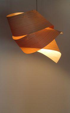 Etsy の Tie Veneer Lampshade by Vayehi