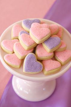 Glitter heart cookies. for doc mcstuffins bday