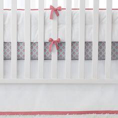 serena and lily bedding- nursery basics- punch with aqua/melon mosaic crib sheet