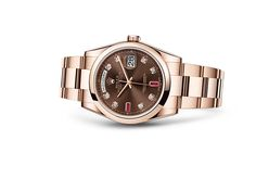 Discover the Day-Date 36 watch in 18 ct Everose gold on the Official Rolex Website. Model: 118205