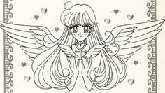 "Minako Aino (Sailor Venus) with angel wings from ""Codename: Sailor V"" series by manga artist & ""Sailor Moon"" creator Naoko Takeuchi."