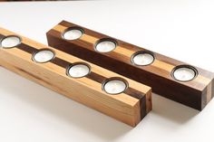 Hickory Walnut Wood Tealight Candleholder by PaybacksABeach