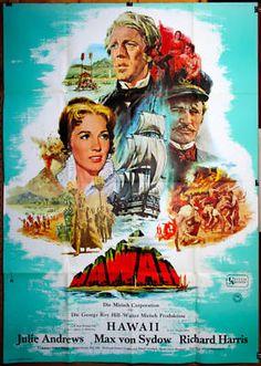 Hawaii 1966 Large German Two Sheet Julie Andrews