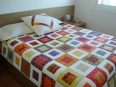 Colourful Quilt + Pillow by Lua Patch, via Flickr